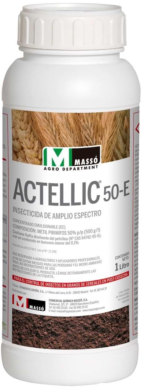 ACTELLIC 50 control insectos  de grano de los cereales en post-cosecha